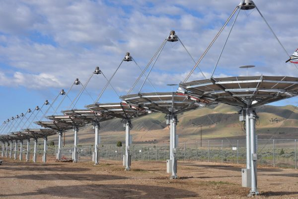 The solar array at the alternative energy corridor at Tooele Army Depot in Utah is a Fiscal Year 2012 Army Energy Conservation Investment Program project. Pictured here in May 2013, the 430 solar dishes are expected to provide 1.5 megawatts of electricity, approximately 30 percent of the depot's annual electric energy need.
